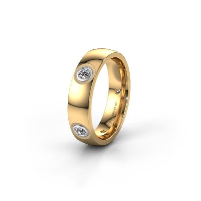 Foto van Trouwring WH0139L25BP 585 goud diamant ±5x2 mm