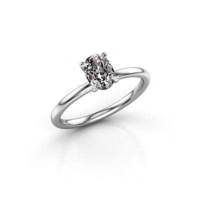 Foto van Verlovingsring Crystal OVL 1 925 zilver zirkonia 7x5 mm