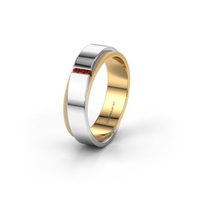 Wedding ring WH6012LX6A 585 gold ruby ±6x1.7 mm