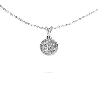 Foto van Hanger Roos 925 zilver diamant 0.301 crt