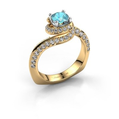 Engagement ring Sienna 585 gold blue topaz 5 mm