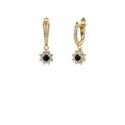 Bild von Ohrhänger Camille 2 375 Gold Schwarz Diamant 0.605 crt