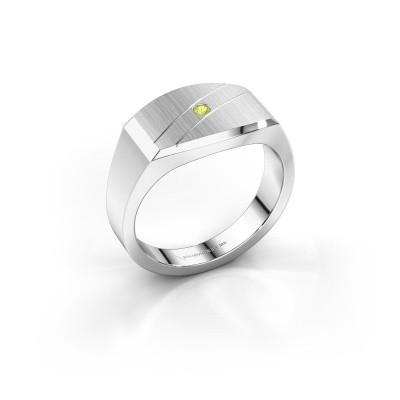 Foto van Heren ring Joe 3 925 zilver peridoot 2 mm
