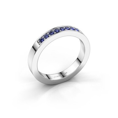 Stackable ring Loes 5 375 white gold sapphire 1.7 mm