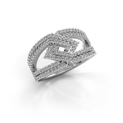 Foto van Ring Emanuelle 585 witgoud diamant 0.76 crt