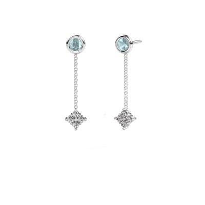 Picture of Drop earrings Ardith 950 platinum zirconia 2 mm