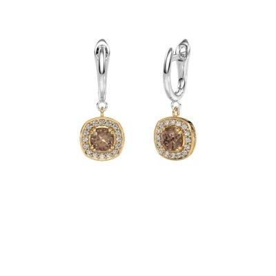 Oorhangers Marlotte 1 585 goud bruine diamant 0.50 crt