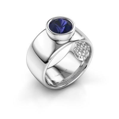 Foto van Ring Klarinda 925 zilver saffier 7 mm