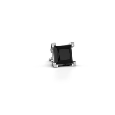 Photo de Boucle d'oreille homme Hans 585 or blanc diamant noir 1.56 crt