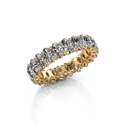 Aanschuifring Heddy OVL 3x5 585 goud lab-grown diamant 5.06 crt