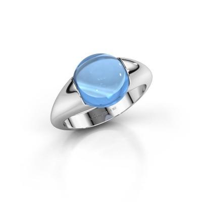 Foto van Ring Robine 375 witgoud blauw topaas 10 mm