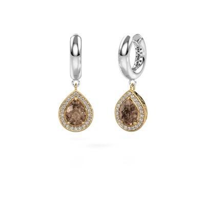 Oorhangers Barbar 1 585 goud bruine diamant 2.065 crt