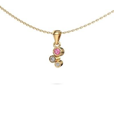 Bild von Anhänger Tessa 375 Gold Pink Saphir 2.5 mm