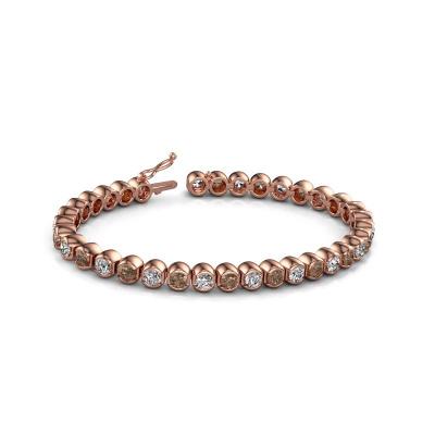 Picture of Tennis bracelet Bianca 4 mm 375 rose gold brown diamond 8.75 crt