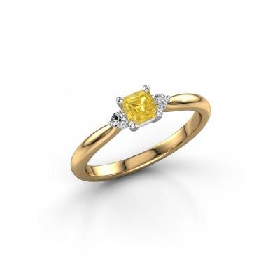 Foto van Verlovingsring Lieselot ASS 585 goud gele saffier 4.5 mm