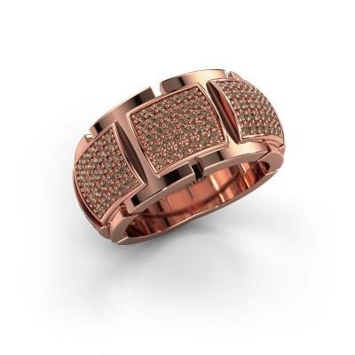 Foto van Ring Laura 375 rosé goud bruine diamant 0.75 crt