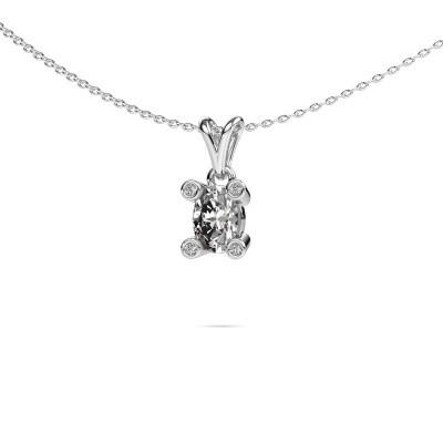 Foto van Ketting Cornelia Oval 375 witgoud lab-grown diamant 0.82 crt