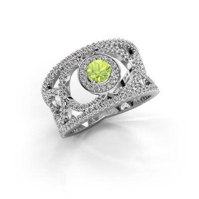 Picture of Ring Regina 585 white gold peridot 4.2 mm
