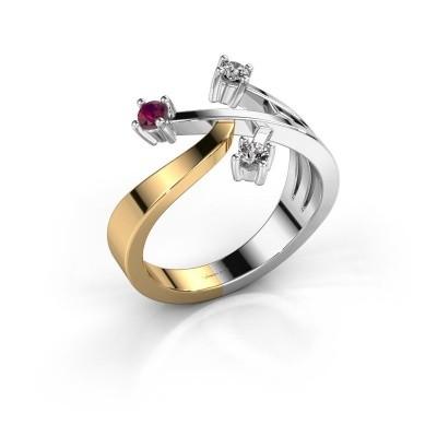 Ring Lillian 585 goud rhodoliet 2.5 mm