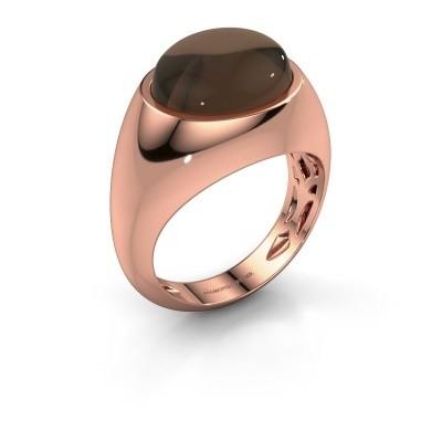 Ring Laurien 375 rosé goud rookkwarts 12x10 mm