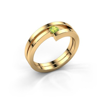 Foto van Ring Nikia 585 goud peridoot 3.4 mm