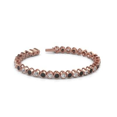 Foto van Tennisarmband Allegra 375 rosé goud zwarte diamant 9.35 crt