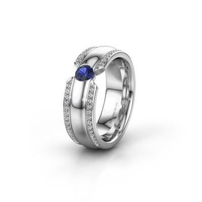 Wedding ring WHR0575L 950 platinum sapphire ±7x2 mm