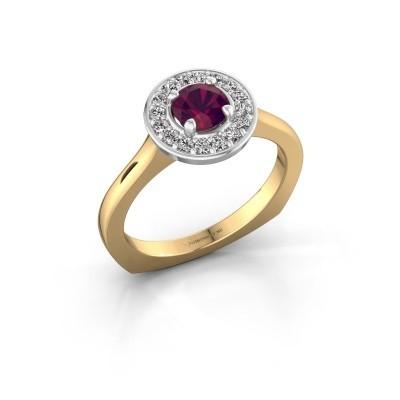 Foto van Ring Kanisha 1 585 goud rhodoliet 5 mm