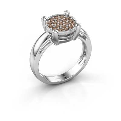 Ring Dina 925 silver brown diamond 0.342 crt