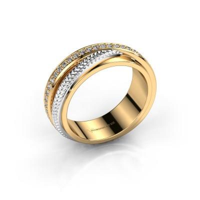 Trouwring Norah 585 goud diamant ±6x2.4 mm