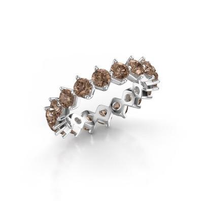 Bild von Vorsteckring Janie 3.4mm 950 Platin Braun Diamant 3.00 crt