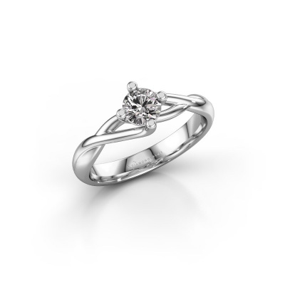 Picture of Engagement ring Paulien 585 white gold diamond 0.40 crt