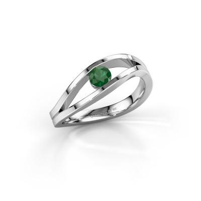 Foto van Ring Sigrid 1 950 platina smaragd 4 mm