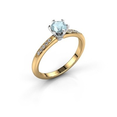 Picture of Engagement ring Tiffy 2 585 gold aquamarine 4.7 mm