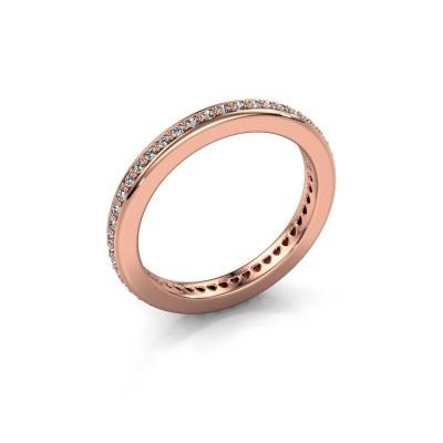 Foto van Aanschuifring Elvire 2 375 rosé goud diamant 0.345 crt