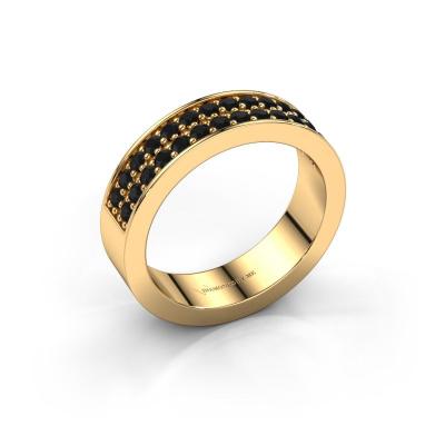 Aanschuifring Catharina 6 585 goud zwarte diamant 0.672 crt