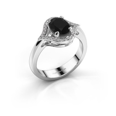Ring Mendy 950 platina zwarte diamant 1.520 crt