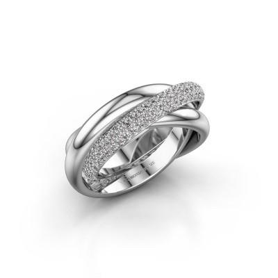 Ring Helena 2 925 zilver zirkonia 1 mm