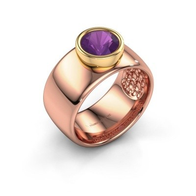 Ring Klarinda 585 rose gold amethyst 7 mm