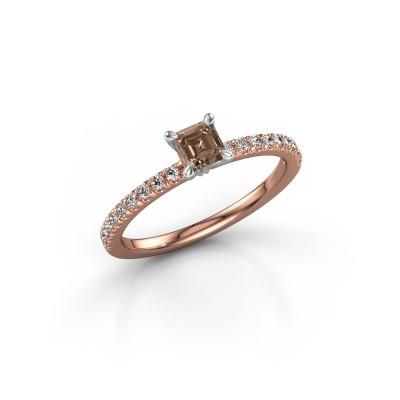 Foto van Verlovingsring Crystal ASS 2 585 rosé goud bruine diamant 0.680 crt
