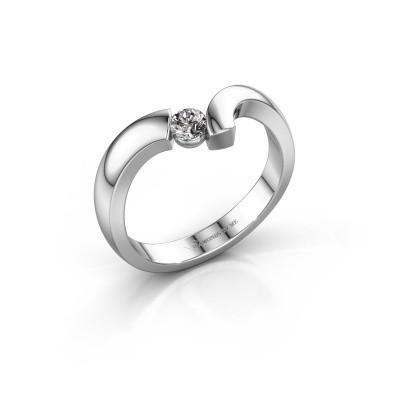 Ring Arda 925 zilver zirkonia 3.4 mm