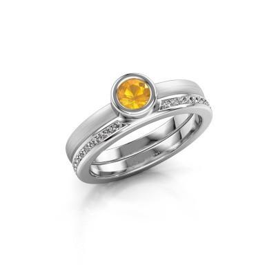 Foto van Ring Cara 950 platina citrien 4 mm