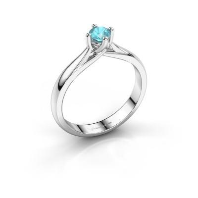 Engagement ring Janne 950 platinum blue topaz 4.2 mm