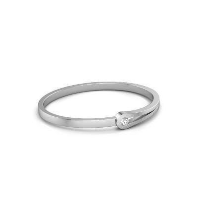 Bracelet jonc Kiki 950 platine diamant 0.30 crt