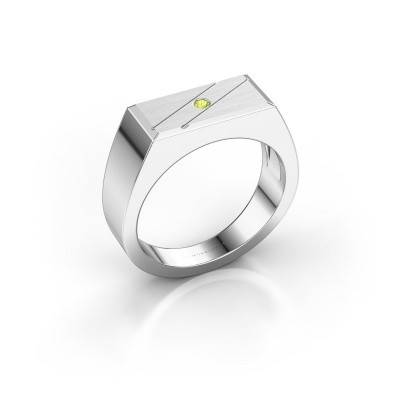Men's ring Dree 3 950 platinum peridot 2 mm