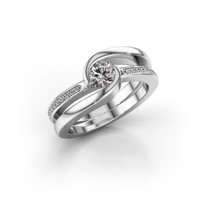 Foto van Ring Xenia 950 platina diamant 0.60 crt