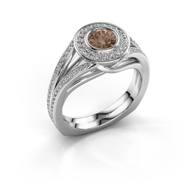 Foto van Ring Kellee 925 zilver bruine diamant 1.05 crt