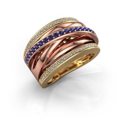 Foto van Ring Clair 2 585 goud saffier 1.5 mm