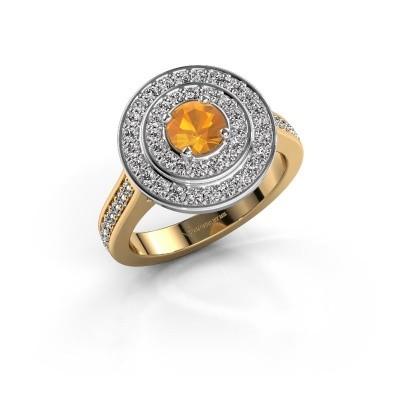 Ring Alecia 2 585 goud citrien 5 mm