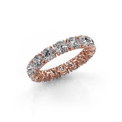 Photo de Bague superposable Vivienne 4.0 375 or rose diamant synthétique 4.00 crt